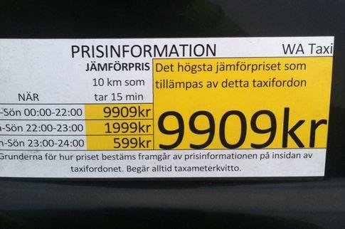jamforelsepris taxi